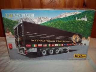 Heller Semi Truck Tractor Box Trailer International Tran 1:24 Model