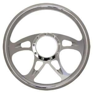 14 Chrome Billet Aluminum Steering Wheel   9 Hole