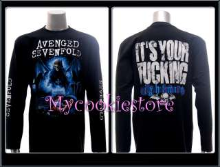 Avenged Sevenfold T shirt Punk Rock Long Sleeve L/S