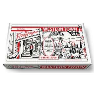 Marx Official Roy Rogers Western Town Play Set Box