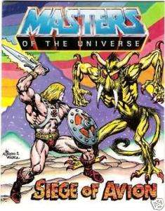 HE MAN MOTU MINI COMIC SIEGE OF AVION MASTERS UNIVERSE