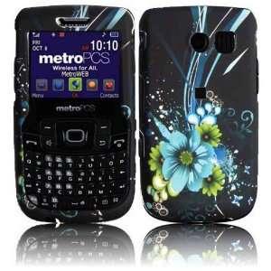 Blue Flower Hard Case Cover for Samsung Freeform 2 R360