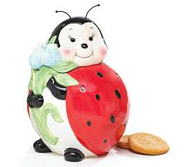 LADYBUG Lady Bug party kitchen home decor COOKIE JAR *PERFECT SPRING