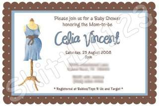 Custom Baby Shower Boy / Girl Personalized Invitations