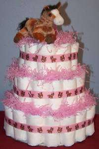 COWGIRL/WESTERN Diaper Cake Baby Shower Gift Girl