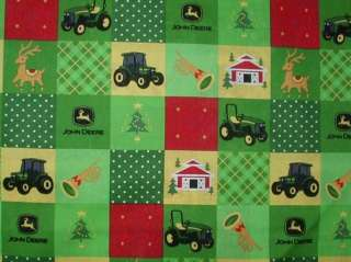 JOHN DEERE CHRISTMAS BLOCKS NURSE & VET SCRUB TOP