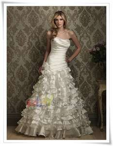 White/Ivory Wedding Evening Dress Bridesmaid Prom Ball Gown