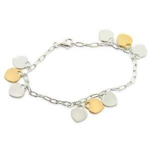 Inspired Sterling Silver Triple Heart Tag Bracelet Designer Inspired