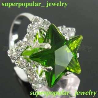 Fashion Pentagram Large Crystal Ring R1047G