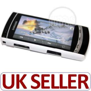 London Magic Store   WHITE HYBRID HARD BACK CASE FOR SAMSUNG OMNIA HD