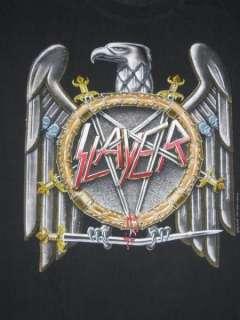 EUROPEAN CAMPAIGN 1990 TOUR T SHIRT vtg concert thrash metal 90s