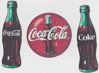 COKE COCA COLA LOGO BOTTLES WALL STICKERS BORDER CUT OUTS