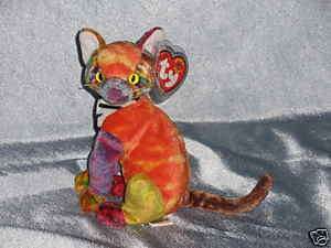 2000 Ty Beanie Baby Kaleidoscope Cat Born June 24,2000