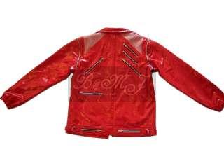 MJ BEAT IT RED PATENT LEATHER Jacket Sz S/M/L/XL/XXL