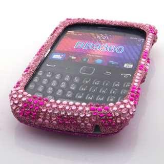 Pink Zebra Diamond Bling Hard Case Cover For Blackberry Curve 9360