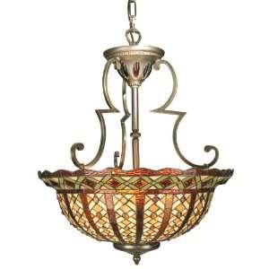 Dale Tiffany TH50183 Bonanno Pendant Light, Antique Brass