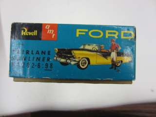 Vintage 1955 Revell/AMT FORD FAIRLANE SUNLINER Plastic Model Kit BOX