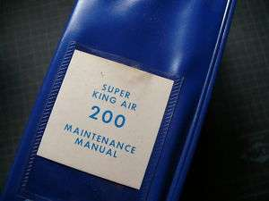 Beechcraft Super King Air 200 Maintenance Manual Guide
