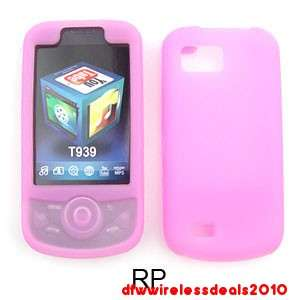 FOR SAMSUNG BEHOLD II SILICONE SKIN CASE PINK ROSE