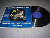 Benny Goodman Famous 1938 Carnegie Hall Jazz Concert LP
