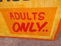La Femme Circus Sideshow Carnival Game Sign Wood Freak Show Amusement