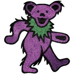 THE GRATEFUL DEAD PURPLE DANCING BEAR EMBROIDERED PATCH