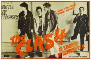 the Clash POSTER live in France **LARGE** Punk Rock Joe Strummer Mick