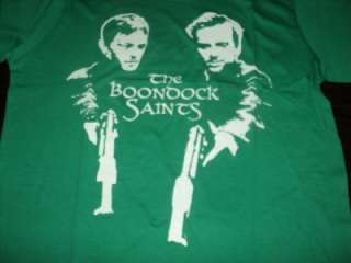 SWEET GUN Boondock Saints GREEN Tee Size XL Jr Shirt