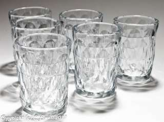 Set 6 Georgian Antique Anglo Irish Cut Glass Drinking Tumblers c.1835