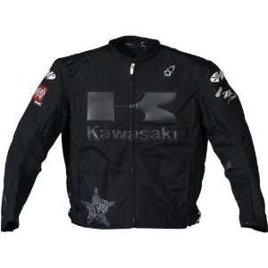 Joe Rocket Industry Kawasaki Textile Jacket   Black/Black