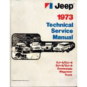 1973 Technical Service Manual Jeep Corporation, Illustrated Books