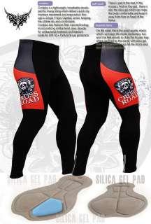 mens road Cycling bike jersey black pants gel pad triathlon S M Large