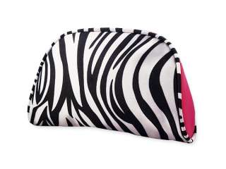 black white pink cosmetic bag