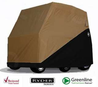 Greenline RYDER 2 Passenger Golf Cart Cover BLACK/TAN