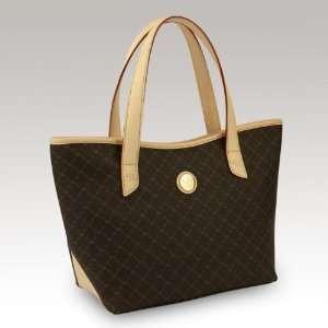 Signature Brown Tulip Tote By Rioni Designer Handbags
