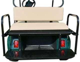 Club Car DS Tan Cushion Golf Cart Rear Seat Assembly