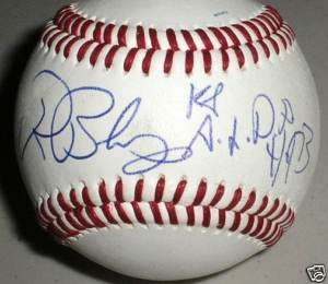 RON BLOMBERG Signed Baseball Auto 1st DH Inscr Yankees