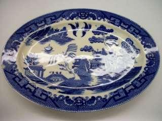 VINTAGE PORCELAIN TRANSOR JAPANESE WARE BLUE PLATE