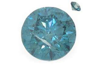 Fancy Blue Brilliant Round Cut Diamond Loose Gem Stone SI1