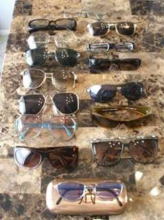 x15 Lot Sunglasses Jean Paul Gaultier JPG Silouette Vercase YSL Black