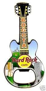 Hard Rock Cafe BOGOTA Bottle Opener Guitar Magnet. RARE
