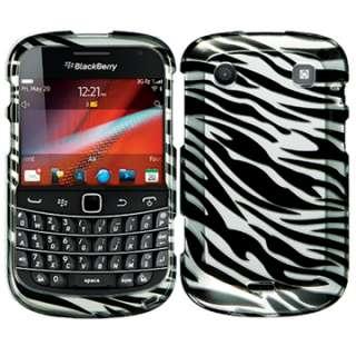 HARD SKIN FACEPLATE CASE COVER BLACKBERRY BOLD 9900 9930 ZEBRA PATTERN