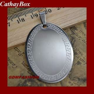50pcs/lot Stainless Steel Blank Oval Dog Tag Pendant
