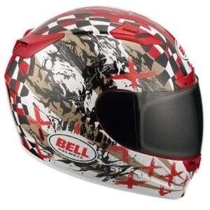2011 Vortex Full Face Street Helmet   Torn Red