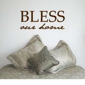 BLESS OUR HOME   Christian God Family Design   Vinyl Wall