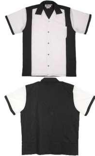 Black/White retro bowling shirt Heavyweight DRESSY Lounge shirt