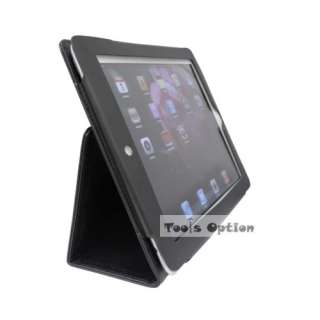 description ipad 2 slim fit black leather case support typing