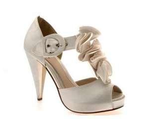 womens wedding satin prom ruffle platform ladies shoes b designer
