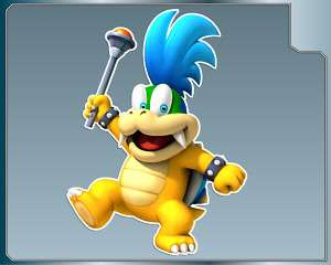 LARRY KOOPA Jr. vinyl decal Super Mario Bros. Sticker