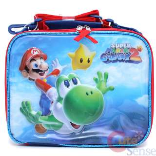Super Mario Galaxy Large School Backpack & Lunch Bag